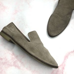 Dolce Vita Tan Suede Slip On Loafers
